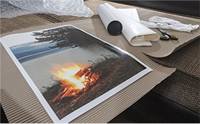 Sample of a canvas print
