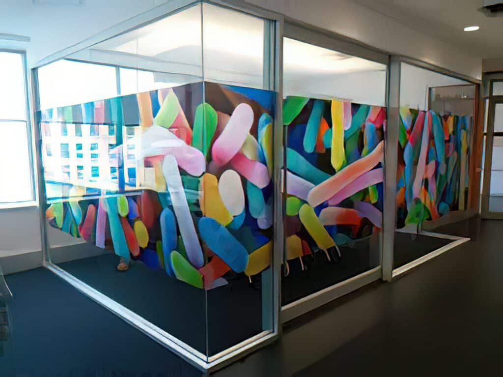 Clear Window Clings - Office Border Design