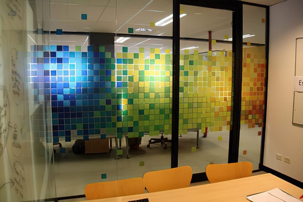 Clear Window Cling - Office Divider