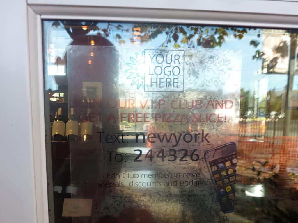 Clear Window Cling - Advertising