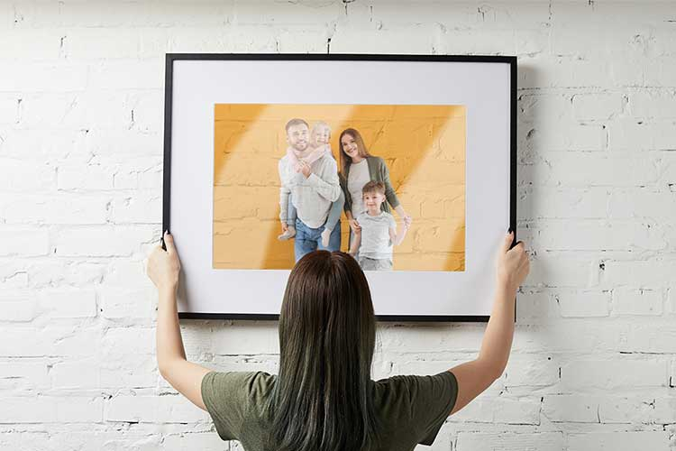 Clear Transparency Print in Frame