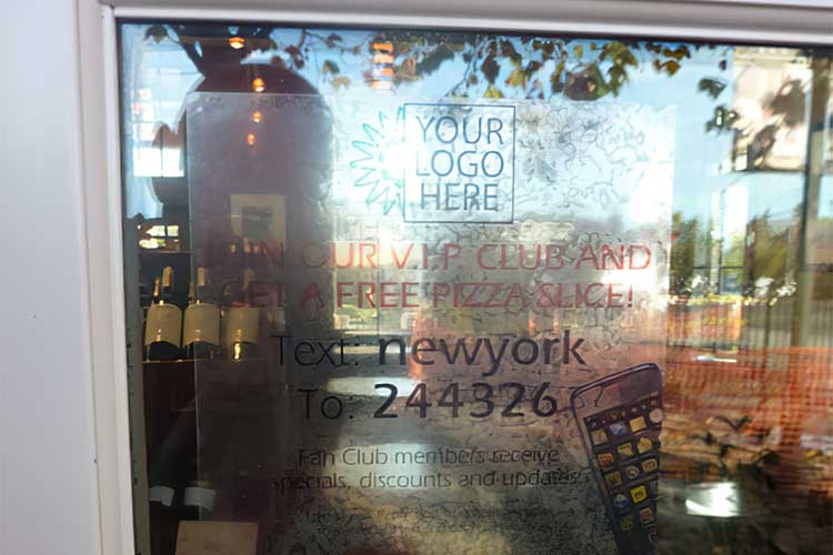 Clear Window Cling for Store Signage