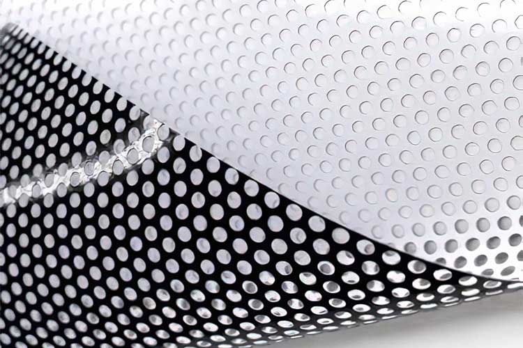 Close Up Sample of Perforated Vinyl