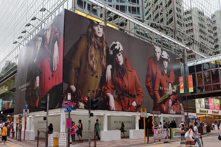 Giant Window Displays in White Window Cling