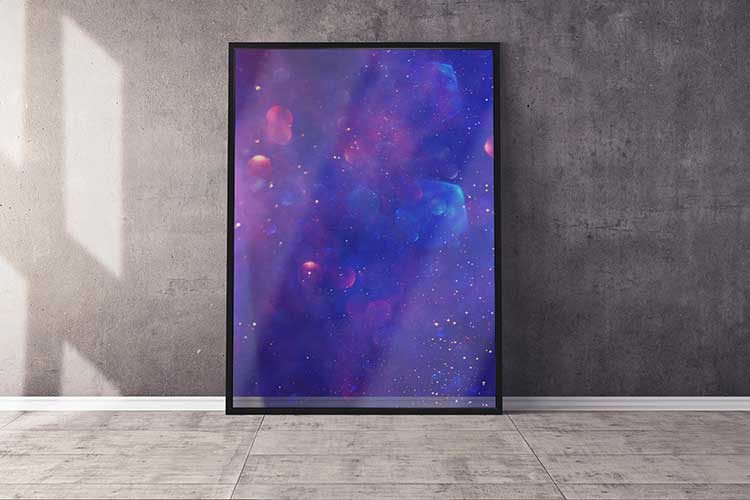 Giant Clear Transparency Print Framed