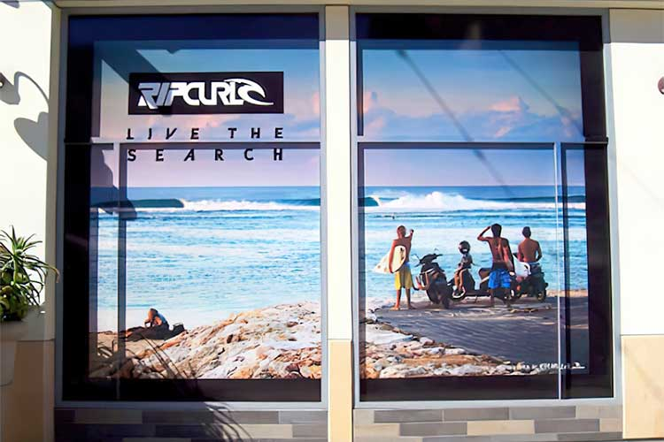Store Windows with Perforated Window Vinyl